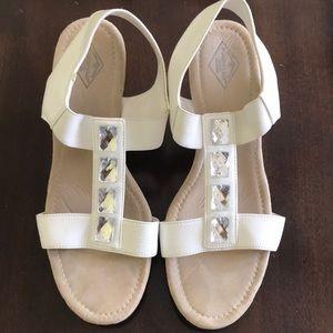 St Johns Bay white Bling wedge sandal